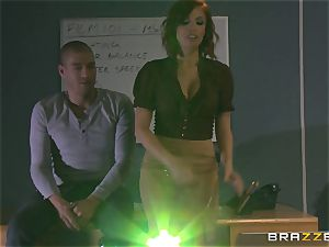 steamy redhead educator Britney Amber shows schoolgirl how its done