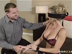 The hubby of Brandi love lets her ravage a different man