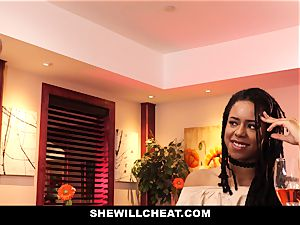 SheWillCheat - cheating wife boinks big black cock in douche