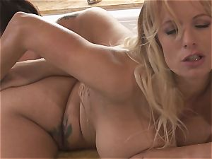 yam-sized boobed lesbos Alison Tyler and Stormy Daniels