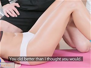 fitness apartments european hottie takes trainers rock hard fuckpole