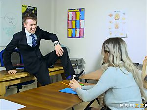 sumptuous student Carly Rae gets screwed by a yam-sized dicked instructor