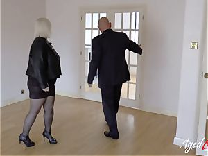 AgedLovE Lacey Starr drilled hard with Sales Agent