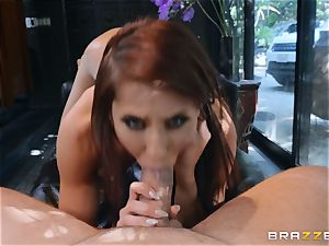 Madison Ivy gets her honeypot pleased by strung up Kieran