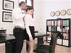 Valentina Nappi disrobes off and ravages her boss