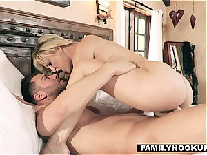 FamilyHookups - super-fucking-hot blond Stepmom porks Her Stepson