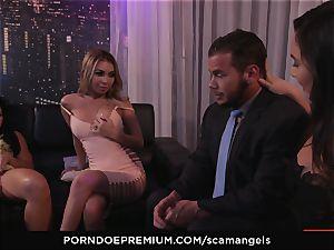 SCAM ANGELS - Kat Dior and Morgan Lee super-fucking-hot three way