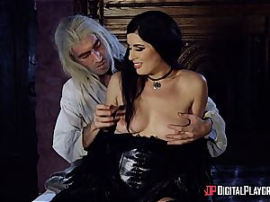 Danny D fools around as Geralt and drills black-haired babe