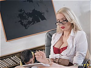 nasty Jordi screwed by milf teacher