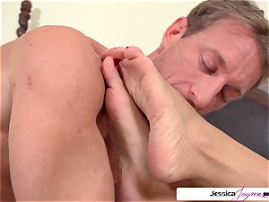 Jessica Jaymes is prepped and naughty to get porked by Ryan