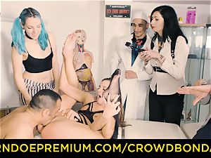 CROWD restrain bondage servant Amirah Adara first-ever time domination & submission