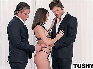first dual penetration for Lana Rhoades