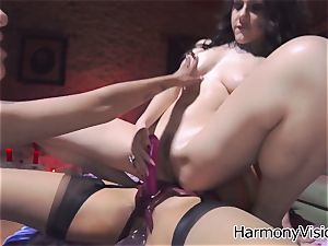 super-naughty lesbians go crazy fake penis fucking their moist cunts