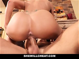 cheating husband watches Wifes fuckbox Get ruined