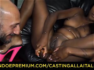 audition ALLA ITALIANA - Indian babe gets huge spear ass fucking