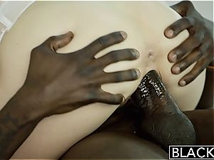 BLACKED uber-sexy blondie Karla Kush Takes meaty black jizz-shotgun