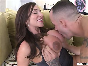 lollipop greedy milf Ariella Ferrera screwed in her rosy pucker