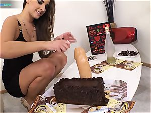 good hottie Amirah Adara and tattooed woman Misha Cross plays with their fuck sticks