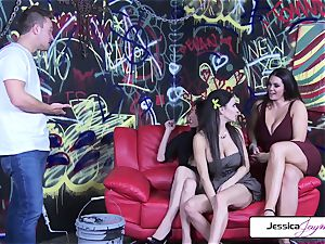 Jessica Jaymes Dava Foxx Alison Tyler smash The Painter