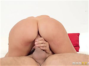 My wife's lewd ginormous ass sister Nicolette Shea riding my manhood in the matrimonial bed