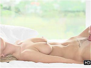 Natalia Starr having romantic intercourse with Johnny Sins