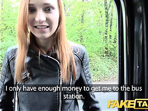 faux taxi slim ginger-haired enjoys tough orgy