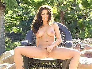 Taylor Vixen is sultry torrid nude on her chair frolicking with her simmering slits