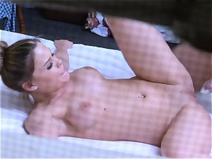 Brianna dark-skinned caught on spy cam as she bangs