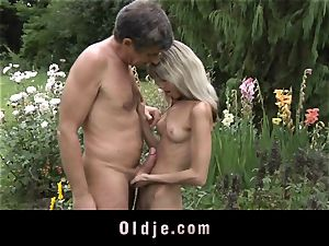 Gina Gerson gets ass-fuck from an elderly boy