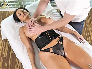phat ass big-titted cougar Ava Addams gets her greased muff poked