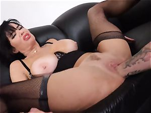 pumping out black-haired Veronica Avluv cunny tucked and fisted