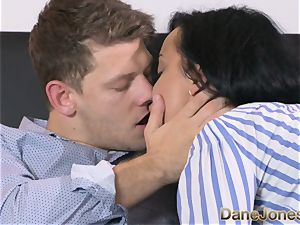Dane Jones super-naughty ebony haired Russian has internal cumshot
