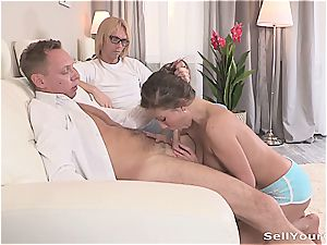 wifey has a great time with her husband's manager