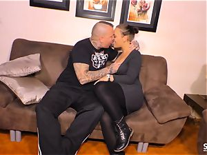 SEXTAPE GERMANY - strenuous hook-up with tatted German minx