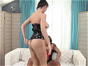 Emylia finds a substitute dick for Valentina's moist cootchie