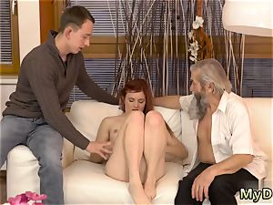 steaming nubile web strip unexpected practice with an old gentleman