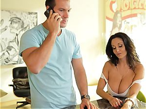immense boobed milf Ava Addams makes sure he notices