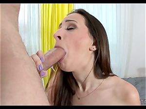 Ashley Adams cock-squeezing lil' cootchie is spread broad open