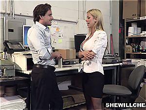 SheWillCheat - big-boobed mummy manager bangs fresh employee