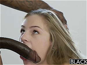 uber-sexy Sydney Cole well-prepped to fit his black jizz-shotgun inside her