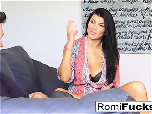 Romi hangs out at James Deen's palace then plows him