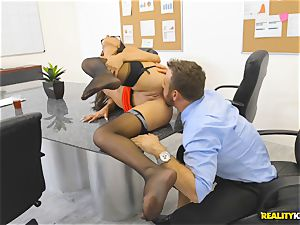 Office penetrate with the secretary Aubrey Rose who happens to be the bosses daughter-in-law