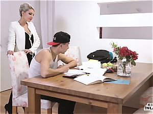 insane INLAWS - slim Czech blonde sizzling drill with stepson