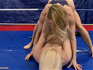 Brandy sneer & Nikky Thorne grapple each other