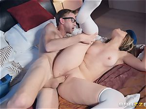 Alice Fabre pummeled in her tender shaven muff