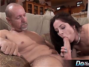 husband witnesses wifey take meaty dick