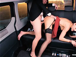 boinked IN TRAFFIC - brit Tina Kay plumbed in the car