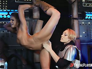 vagina enjoying lesbians Adriana Chechik and Lily Labeau sploog on board