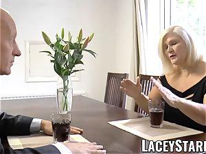 LACEYSTARR - kinkiest granny analled before cum shot