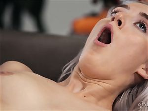 unloading lesbian joy with Abigail Mac and Cadence Lux